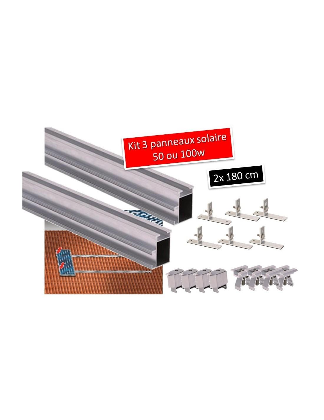 Fixation panneau photovoltaique sur bac acier