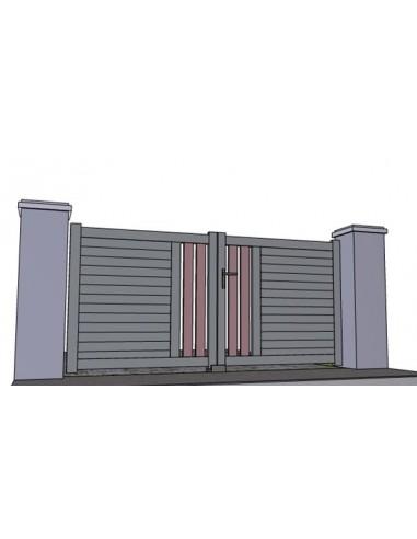 Portail aluminium semi ajour andernos sur mesure for Portail exterieur sur mesure