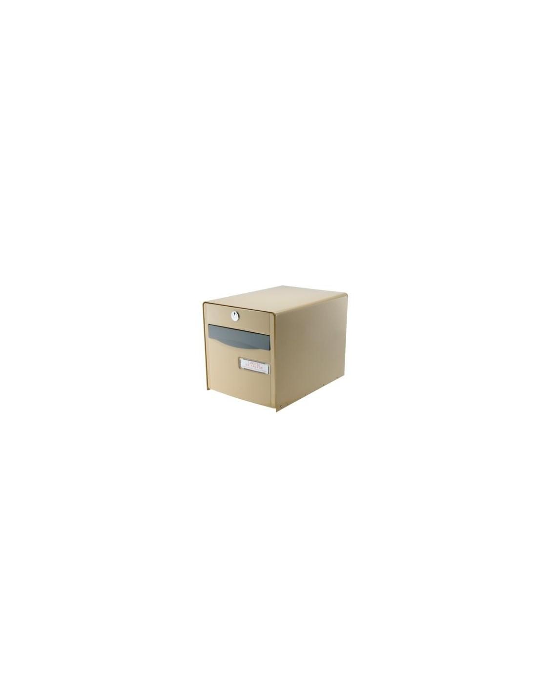 boite aux lettres simple face beige fa ade abattante boite aux lettres simple face beige 1 porte. Black Bedroom Furniture Sets. Home Design Ideas