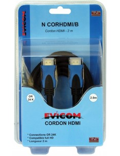 Cordon HDMI 2 mêtres mâle-mâle connectique OR