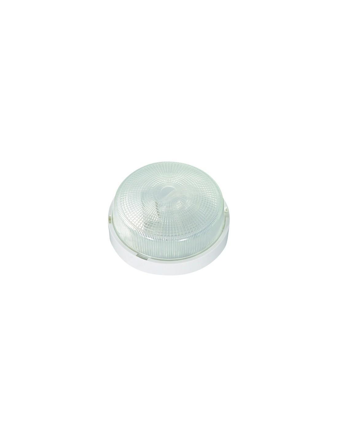 Hublot rond tanche plastique bg blanc brico for Hublot exterieur etanche