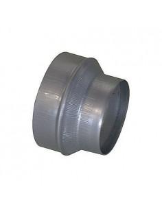 Réduction galva 200-125mm pour récuperateur d'air chaud de cheminée