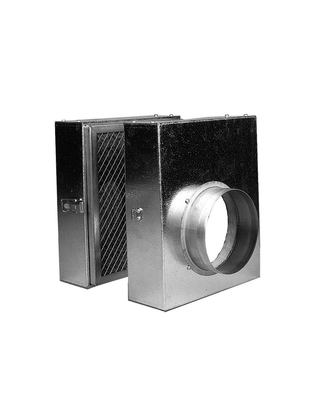 Caisson filtre 160 difuzair pour r cup rateur air chaud - Recuperateur de chaleur pour cheminee ...