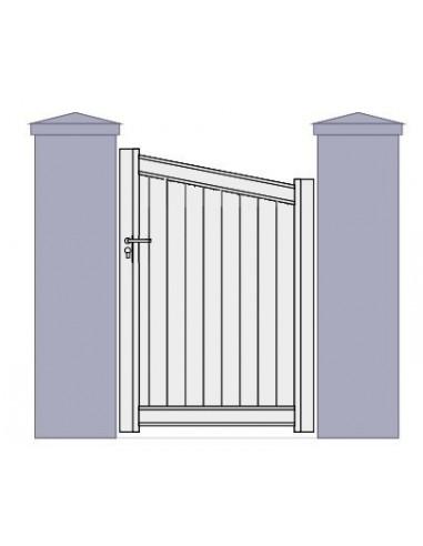 portillon aluminium biais plein sur mesure. Black Bedroom Furniture Sets. Home Design Ideas