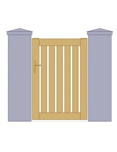 portillon aluminium semi plein lames horizontales sur mesure. Black Bedroom Furniture Sets. Home Design Ideas