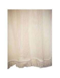 Portière rideau coton vg ecru