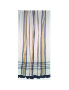 Portière rideau coton vg marseillais bleu