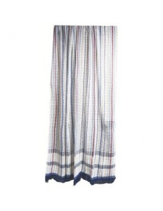 Portière rideau coton vg toulousain bleu