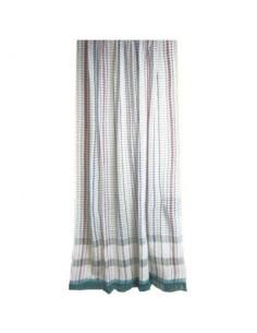 Portière rideau coton vg toulousain vert