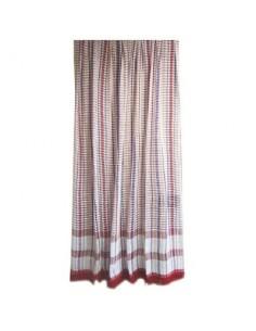 Portière rideau coton vg toulousain rouge