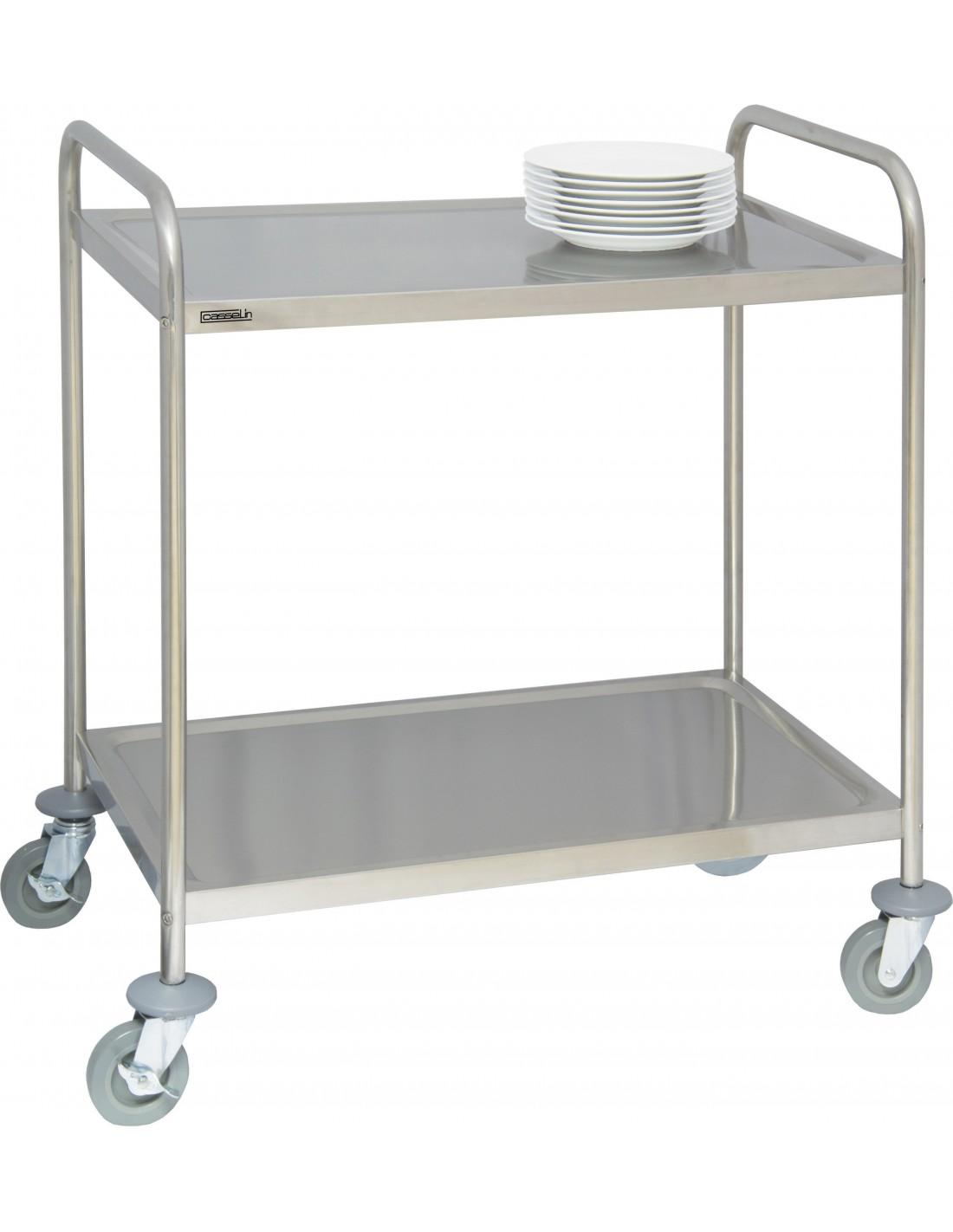 servante inox 2 plateaux casselin pour cuisine professionnelle. Black Bedroom Furniture Sets. Home Design Ideas