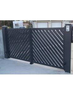 Portail aluminium coulissant standard ANAE L 3m56 H 1m70