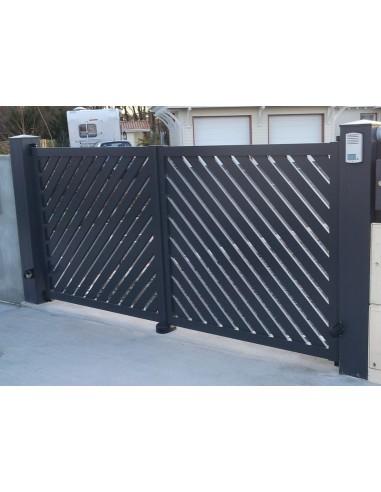 Portail coulissant aluminium mimizan 3 00 m 6 00 m for Portail coulissant m