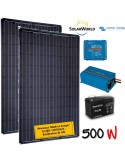 Kit solaire 400W , batterie 200 Ah, 1500w chargeur