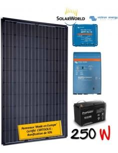Kit solaire 260w , batterie 200 ah, 700w victron chargeur