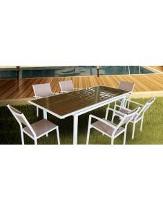 Salon De Jardin En R Sine 3 Fauteuils Et Table Basse Gris