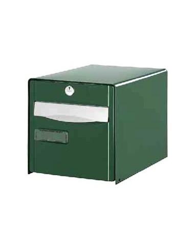 boite aux lettres verte 2 portes fa ade abattante. Black Bedroom Furniture Sets. Home Design Ideas