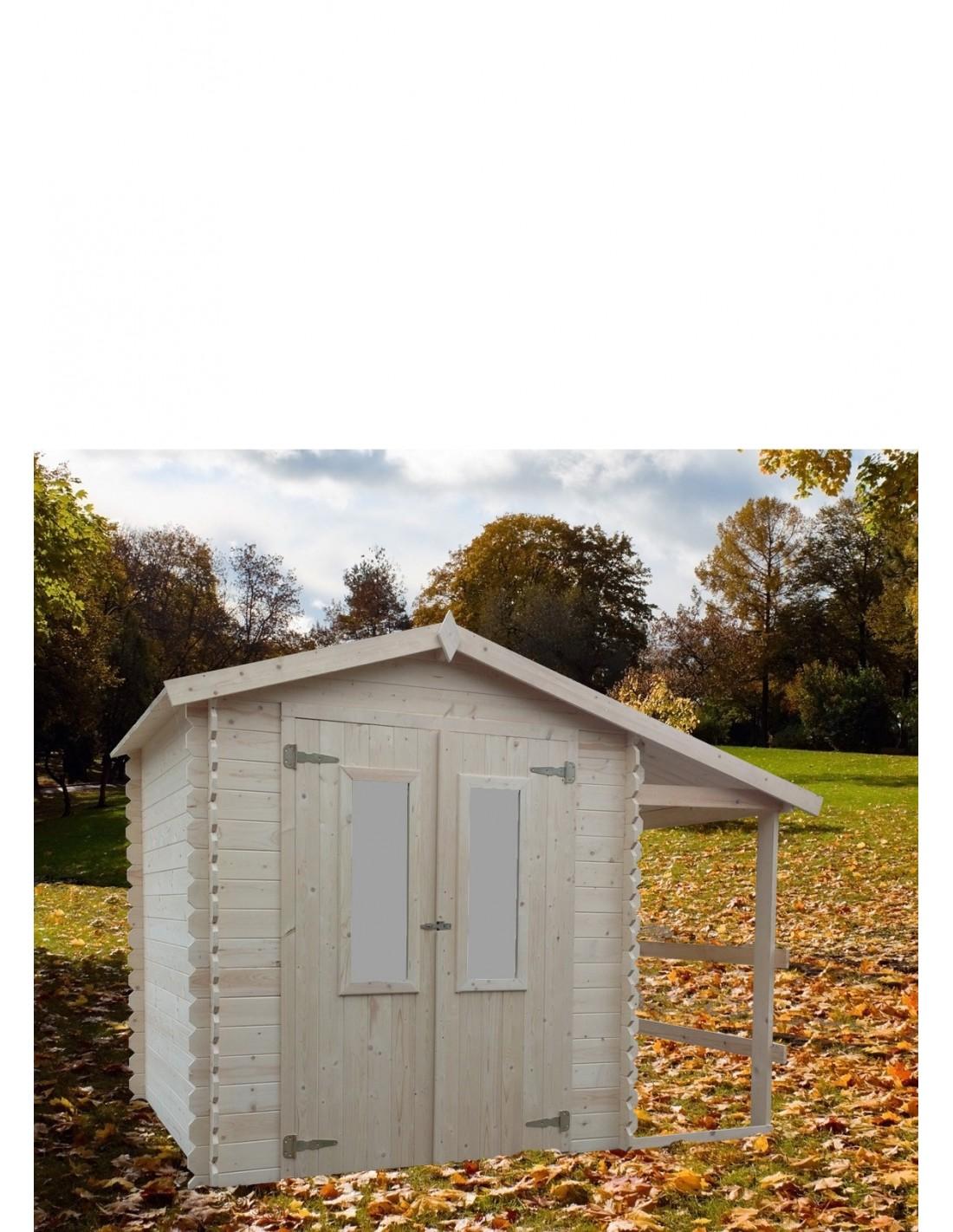 Chalet de jardin en bois 2x2m avec bucher p 19mm2 for Chalet jardin en bois