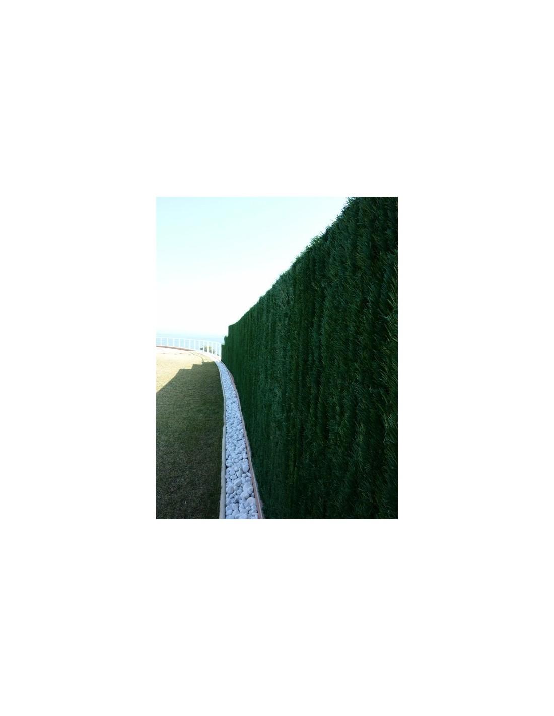 Haie Artificielle Synth Tique Vert Sapin Lg 3 M 126 Brins