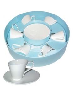 Service à cafe expresso 6 pièces bg blanc
