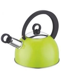 Bouilloire à sifflet inox couleur bg citron vert