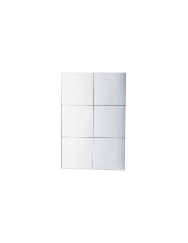 Lot de 6 miroirs 15x15 coller pour salle de bains - Miroir salle de bain a coller ...