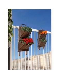 Jardin balcon 4 poches vg marron 2