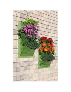 Jardin vertical 3 poches vg vert 2