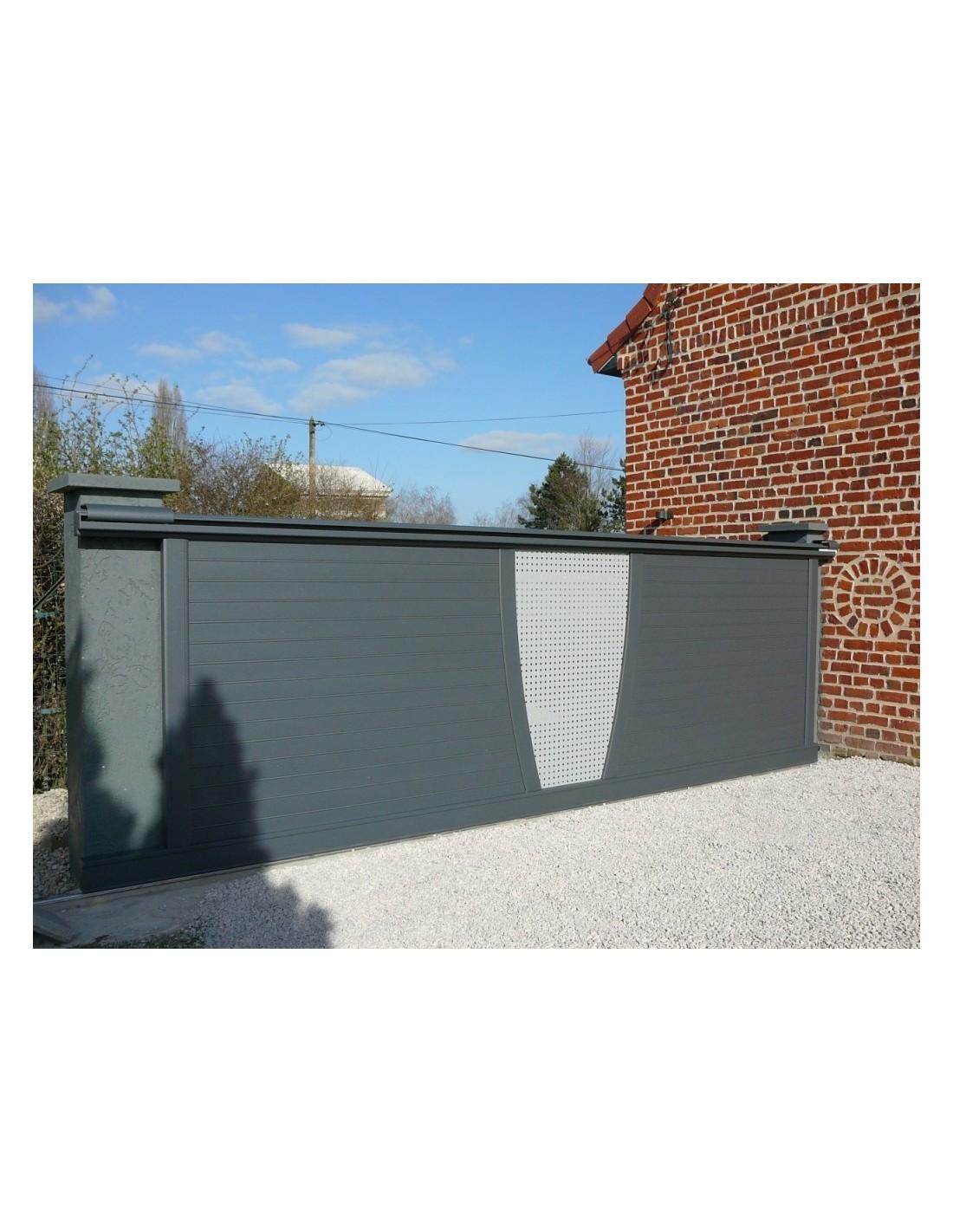 Portail Coulissant Aluminium Design Max Sur Mesure De 3