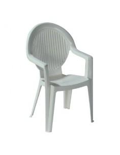 Salon résine blanche vg salon table + 6 fauteuils