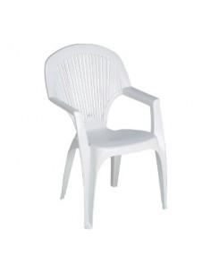 Salon blanc résine vg fauteuil haut dossier