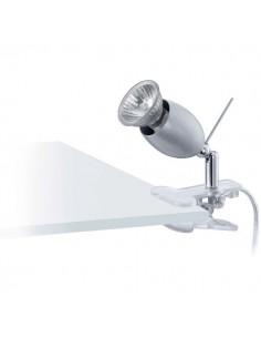 LAMPE SPOT PINCE GU10 ARGENT