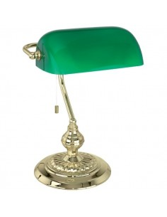 LAMPE DE BUREAU ACIER/VERRE