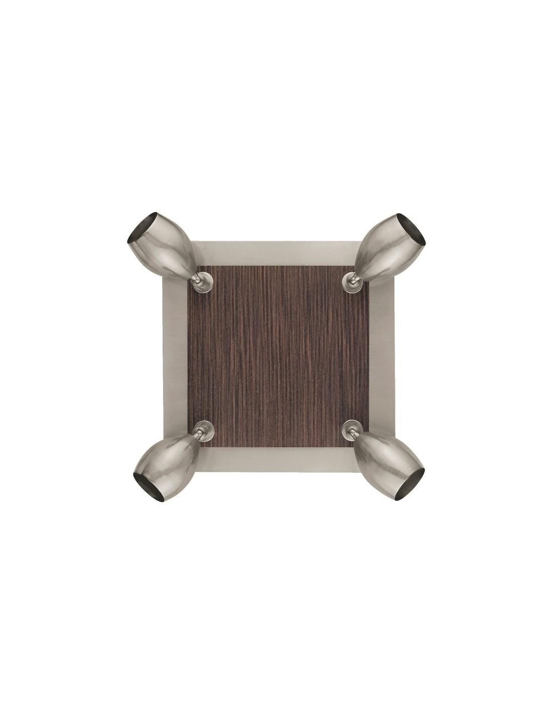 plafonnier 4 spots square. Black Bedroom Furniture Sets. Home Design Ideas