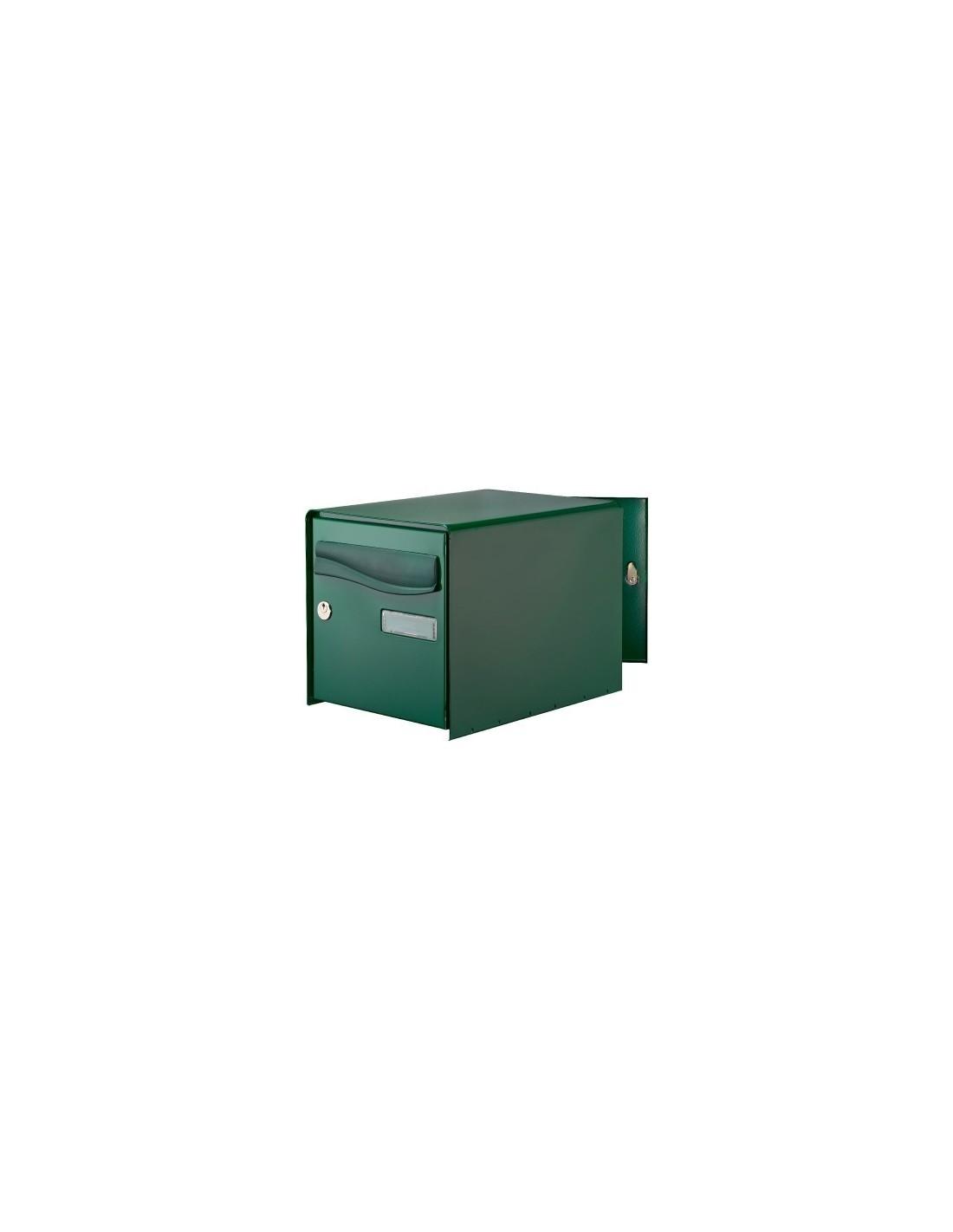 bo te aux lettres ouverture totale r box lys bg double face vert. Black Bedroom Furniture Sets. Home Design Ideas