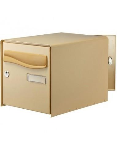 bo te aux lettres ouverture totale r box lys bg double face beige boite lettres df beige 123723. Black Bedroom Furniture Sets. Home Design Ideas