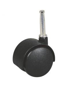 Roulette twiny noire à douille à bois pivotante 48 x 40