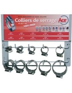 Présentoir collier bande non perforée w4 'hcr100 npss9' bg 100 colliers