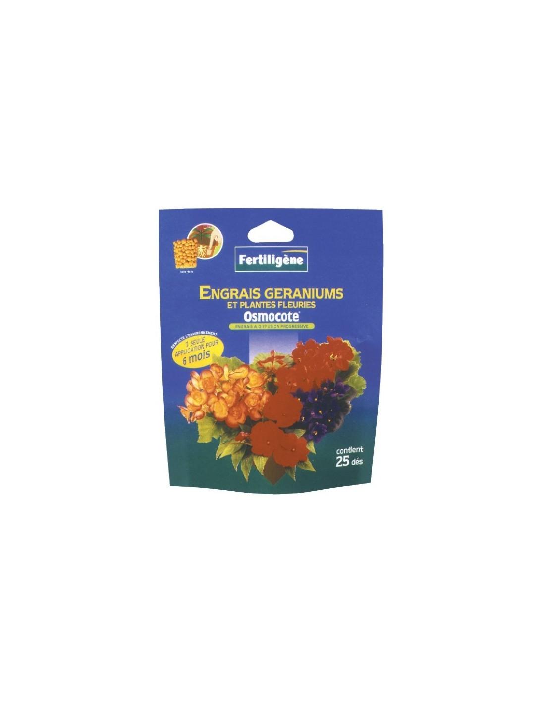 Engrais osmocote Geraniums
