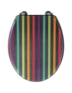 Abattant ray bg rayures colorées