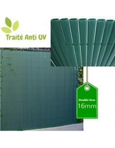 Canisse PVC couleur bambou double face 16mm