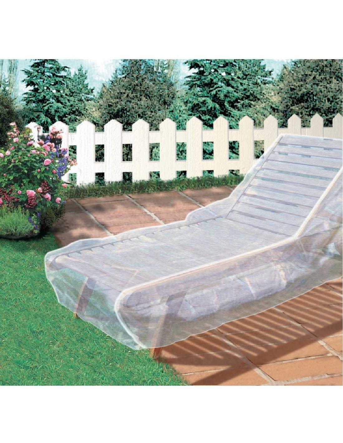 Housse chaise longue for Housse protection mobilier exterieur