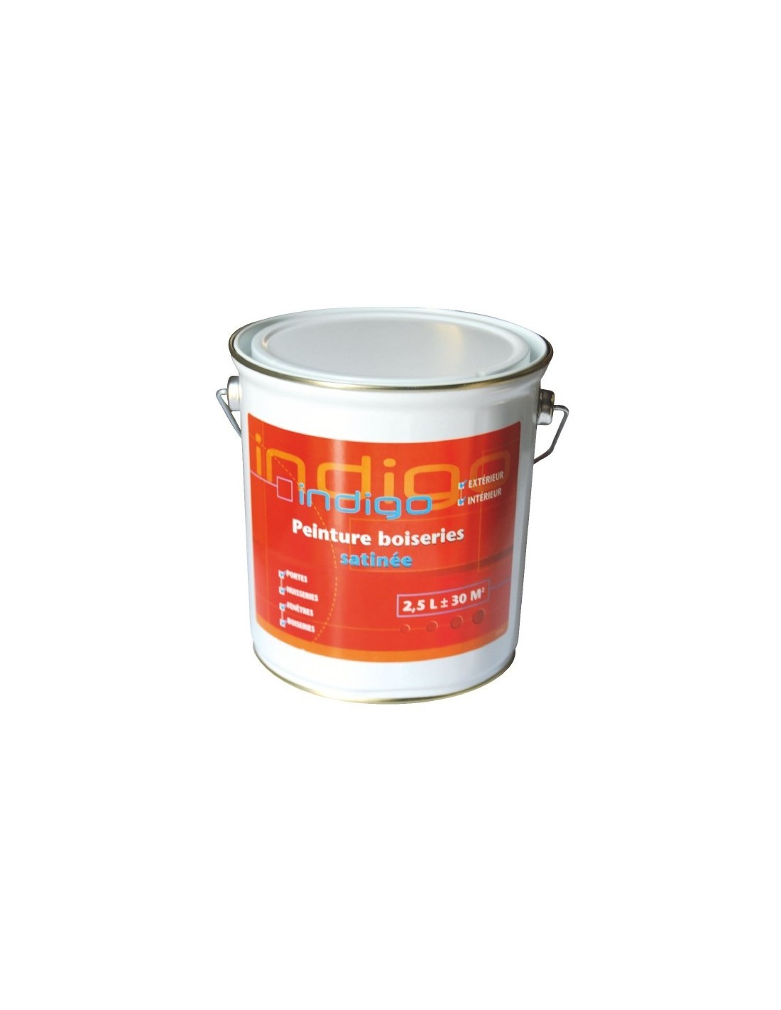 Peinture boiserie satin e 2 5 l blanc for Peinture cuisine satinee