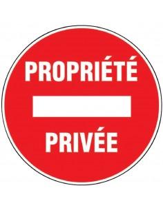 """Panneau """"propriété privée"""""""