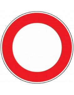 Panneau de signalisation rond Interdit à tous véhicules