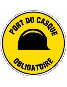Panneau de signalisation rond Port du casque obligatoire