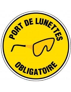 Panneau de signalisation rond Port de lunettes obligatoire