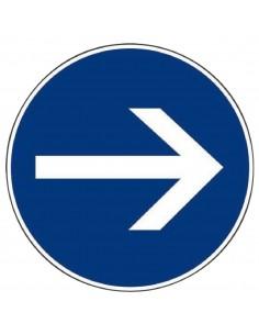 Panneau de signalisation rond sens obligatoire - Panneau sens interdit ...