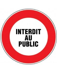 Panneau de signalisation rond Interdit au public