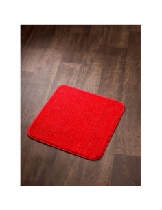 Tapis sortie de bain subtil ls 60 x 60 rouge